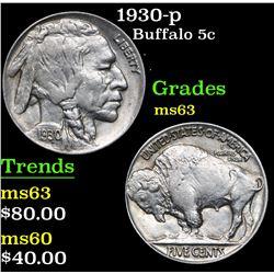 1930-p . . Buffalo Nickel 5c Grades Select Unc