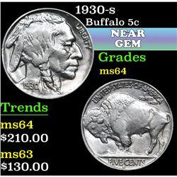 1930-s . . Buffalo Nickel 5c Grades Choice Unc