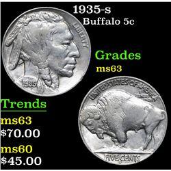 1935-s . . Buffalo Nickel 5c Grades Select Unc