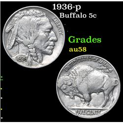 1936-p . . Buffalo Nickel 5c Grades Choice AU/BU Slider