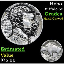 Hobo . . Buffalo Nickel 5c Grades Hand Carved