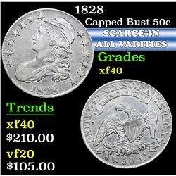 1828 . . Capped Bust Half Dollar 50c Grades xf