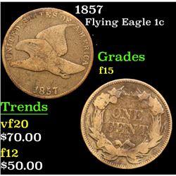 1857 . . Flying Eagle Cent 1c Grades f+