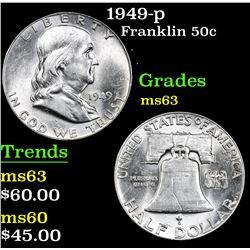 1949-p . . Franklin Half Dollar 50c Grades Select Unc