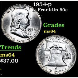 1954-p . . Franklin Half Dollar 50c Grades Choice Unc