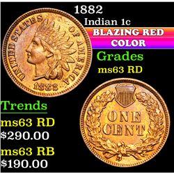 1882 . . Indian Cent 1c Grades Select Unc RD