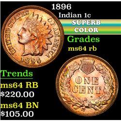1896 . . Indian Cent 1c Grades Choice Unc RB