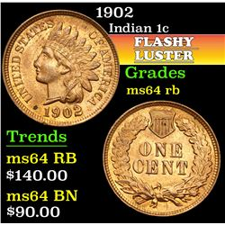 1902 . . Indian Cent 1c Grades Choice Unc RB