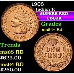 1903 . . Indian Cent 1c Grades Choice+ Unc RD