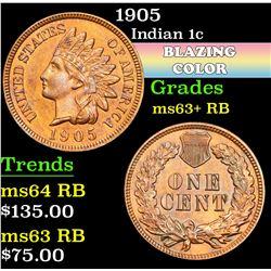 1905 . . Indian Cent 1c Grades Select+ Unc RB