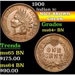 1906 . . Indian Cent 1c Grades Choice+ Unc BN