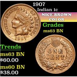 1907 . . Indian Cent 1c Grades Select Unc BN