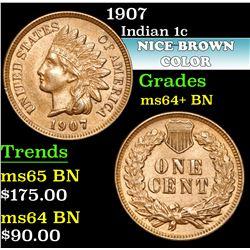 1907 . . Indian Cent 1c Grades Choice+ Unc BN
