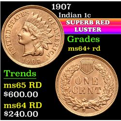 1907 . . Indian Cent 1c Grades Choice+ Unc RD