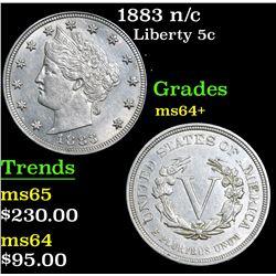 1883 n/c . . Liberty Nickel 5c Grades Choice+ Unc