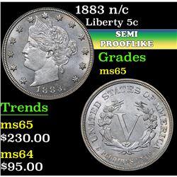 1883 n/c . Semi PL Liberty Nickel 5c Grades GEM Unc