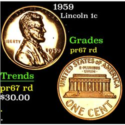 1959 . . Lincoln Cent 1c Grades Gem++ Proof Red