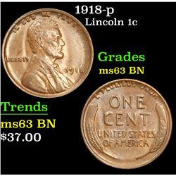 1918-p . . Lincoln Cent 1c Grades Select Unc BN