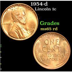 1954-d . . Lincoln Cent 1c Grades GEM Unc RD