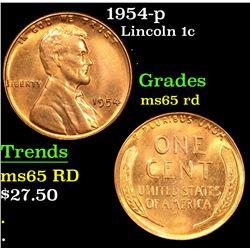 1954-p . . Lincoln Cent 1c Grades GEM Unc RD