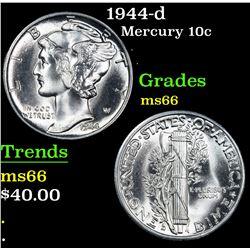 1944-d . . Mercury Dime 10c Grades GEM+ Unc