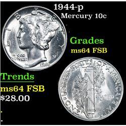 1944-p . . Mercury Dime 10c Grades Choice Unc FSB