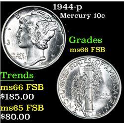 1944-p . . Mercury Dime 10c Grades GEM+ FSB