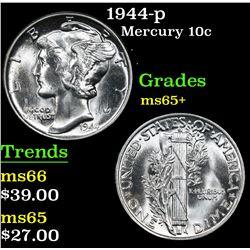 1944-p . . Mercury Dime 10c Grades GEM+ Unc