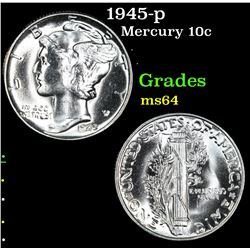 1945-p . . Mercury Dime 10c Grades Choice Unc