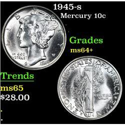 1945-s . . Mercury Dime 10c Grades Choice+ Unc