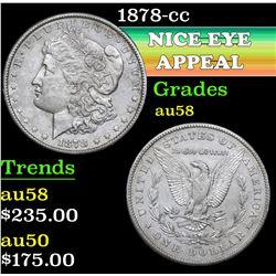 1878-cc . . Morgan Dollar $1 Grades Choice AU/BU Slider