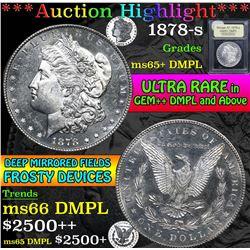 1878-s . . Morgan Dollar $1 Grades GEM+ DMPL