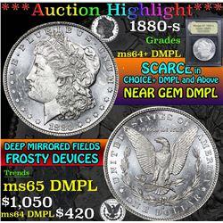1880-s . . Morgan Dollar $1 Grades Choice Unc+ DMPL