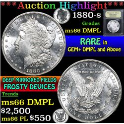 1880-s . . Morgan Dollar $1 Grades GEM+ UNC DMPL