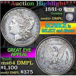 1881-o . . Morgan Dollar $1 Grades Select Unc+ DMPL
