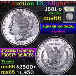 1881-o . . Morgan Dollar $1 Grades GEM+ Unc