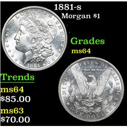 1881-s . . Morgan Dollar $1 Grades Choice Unc