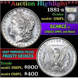 1881-s . . Morgan Dollar $1 Grades Choice Unc+ DMPL
