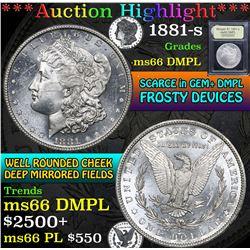 1881-s . . Morgan Dollar $1 Grades GEM+ UNC DMPL