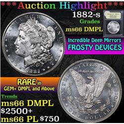 1882-s . Incredable Deep Mirrors Morgan Dollar $1 Grades GEM+ UNC DMPL