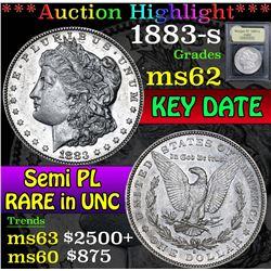 1883-s . Semi PL Morgan Dollar $1 Grades Select Unc