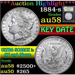 1884-s . . Morgan Dollar $1 Grades Choice AU/BU Slider