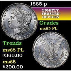 1885-p . . Morgan Dollar $1 Grades GEM Unc PL