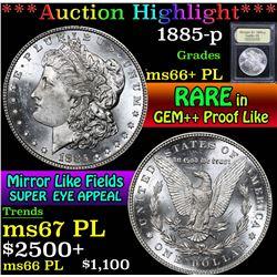 1885-p . . Morgan Dollar $1 Grades GEM++ PL