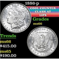 1886-p . . Morgan Dollar $1 Grades GEM+ Unc