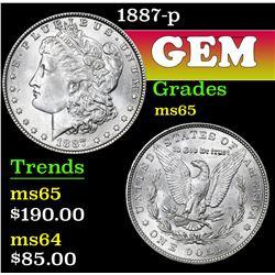 1887-p . . Morgan Dollar $1 Grades GEM Unc