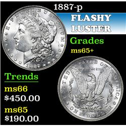1887-p . . Morgan Dollar $1 Grades GEM+ Unc