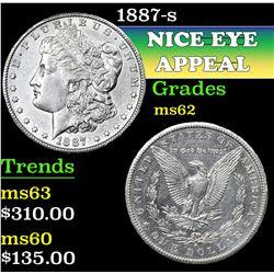 1887-s . . Morgan Dollar $1 Grades Select Unc