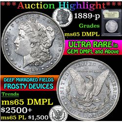 1889-p . . Morgan Dollar $1 Grades GEM Unc DMPL