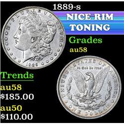 1889-s . . Morgan Dollar $1 Grades Choice AU/BU Slider